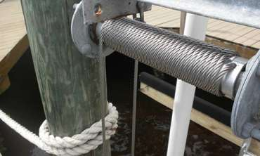 Boat Lift Cable Installation