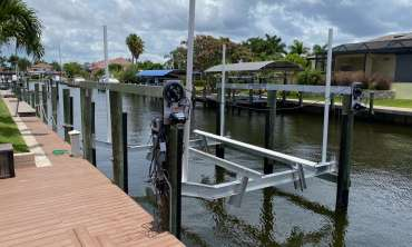 New Boat Lift Installation